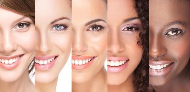 تفاوت رنگ های پوست